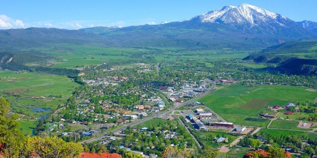 Carbondale Colorado Aerial View
