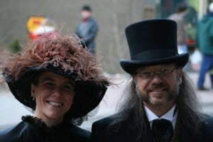 Georgetown Christmas Market Victorian Couple