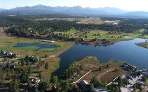 Pagosa Springs Colorado Aerial View