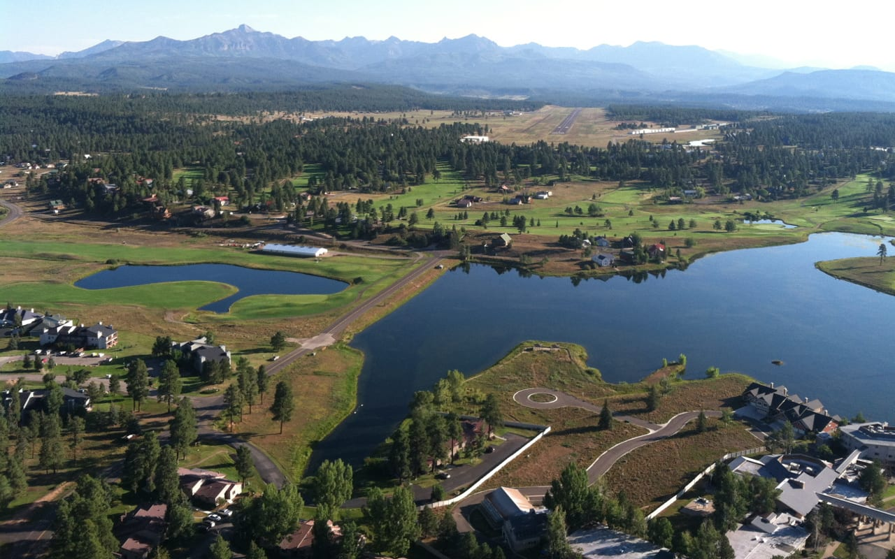 Pagosa Springs Colorado Aerial View