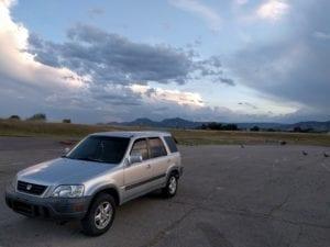 Colorado Honda CRV Parked