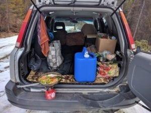 CRV Trunk Camping