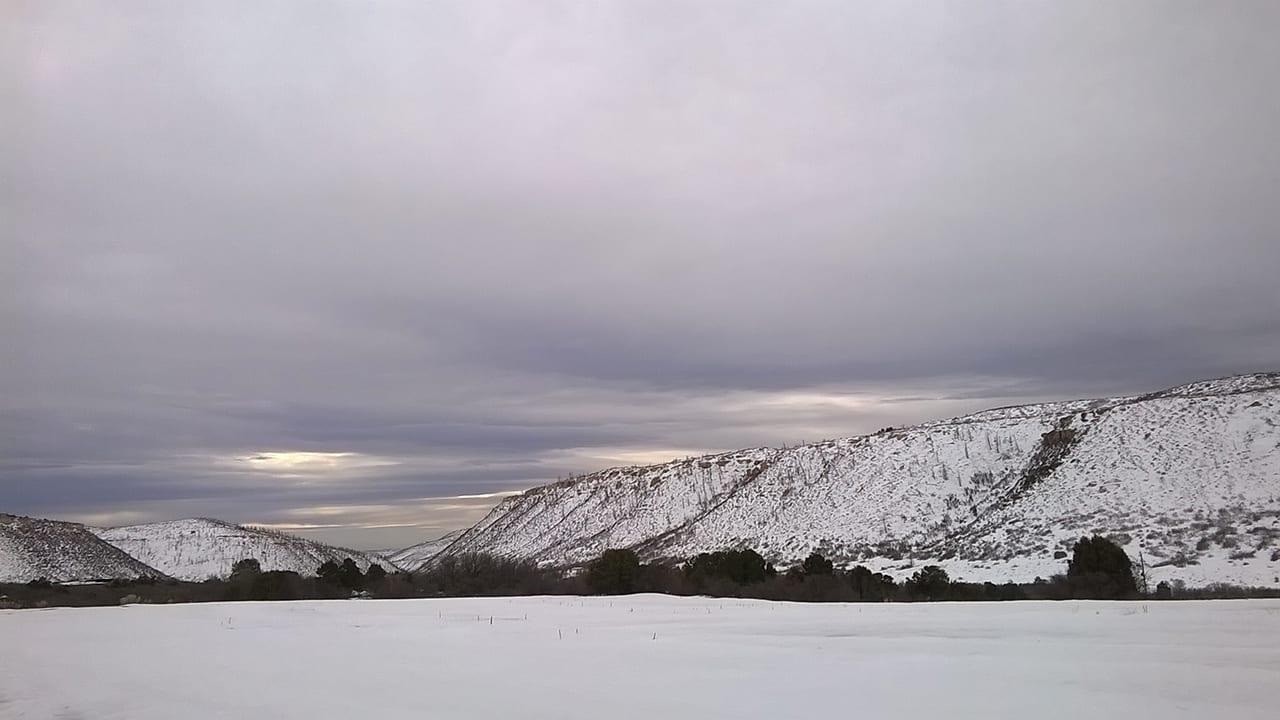 Mesa Verde Morefield Campground Winter Snow