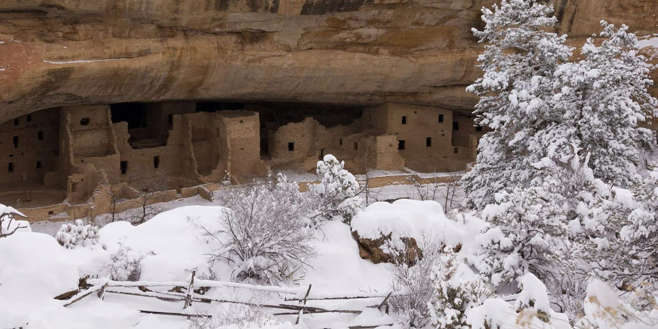 Mesa Verde Spruce Tree House Snow