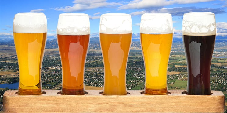 Colorado Front Range Beer Flight