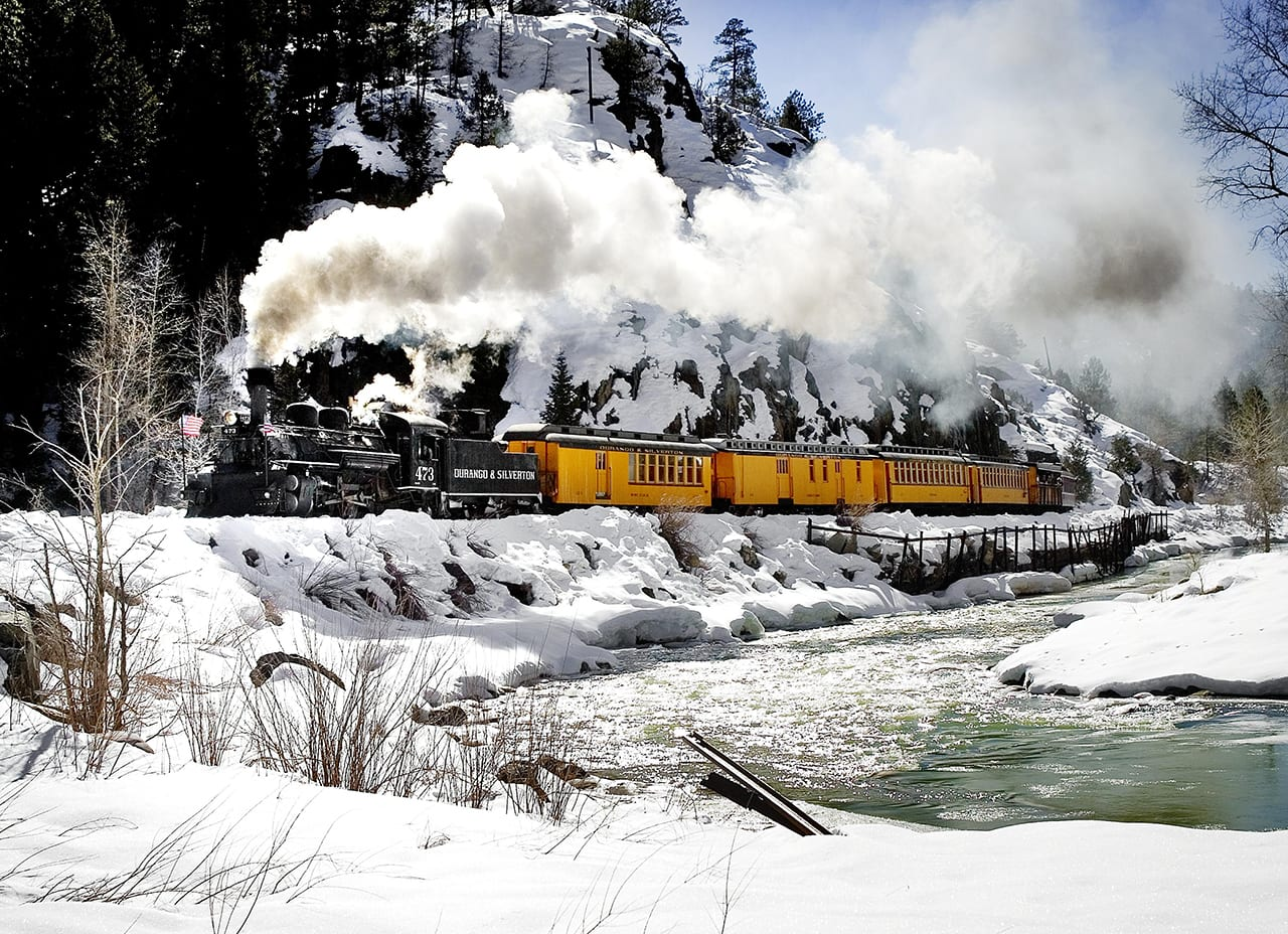Durango Silverton Narrow Gauge Train Winter