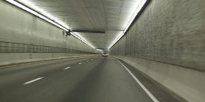 What is the highest auto tunnel in the world?