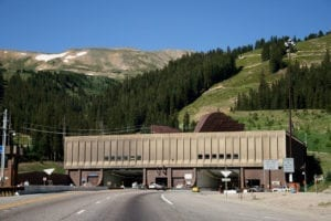 Eisenhower Tunnel Eastern Portal.