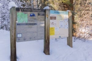 Snowshoeing Vallecito Creek Trailhead Sign