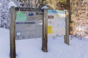 Snowshoeing Vallecito Creek Trailhead Sign