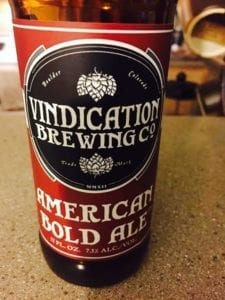 Vindication Brewing American Bold Ale