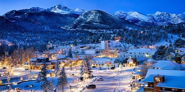 Estes Park Village Colorado Winter