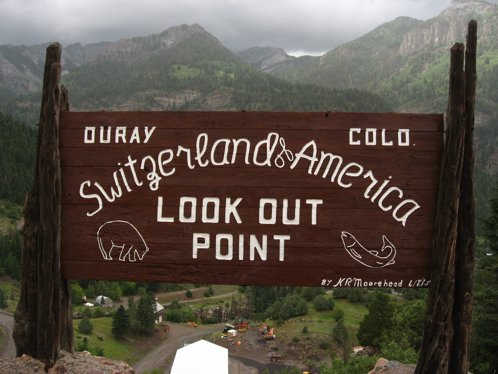 Colorado Town Motto Ouray Welcome Sign