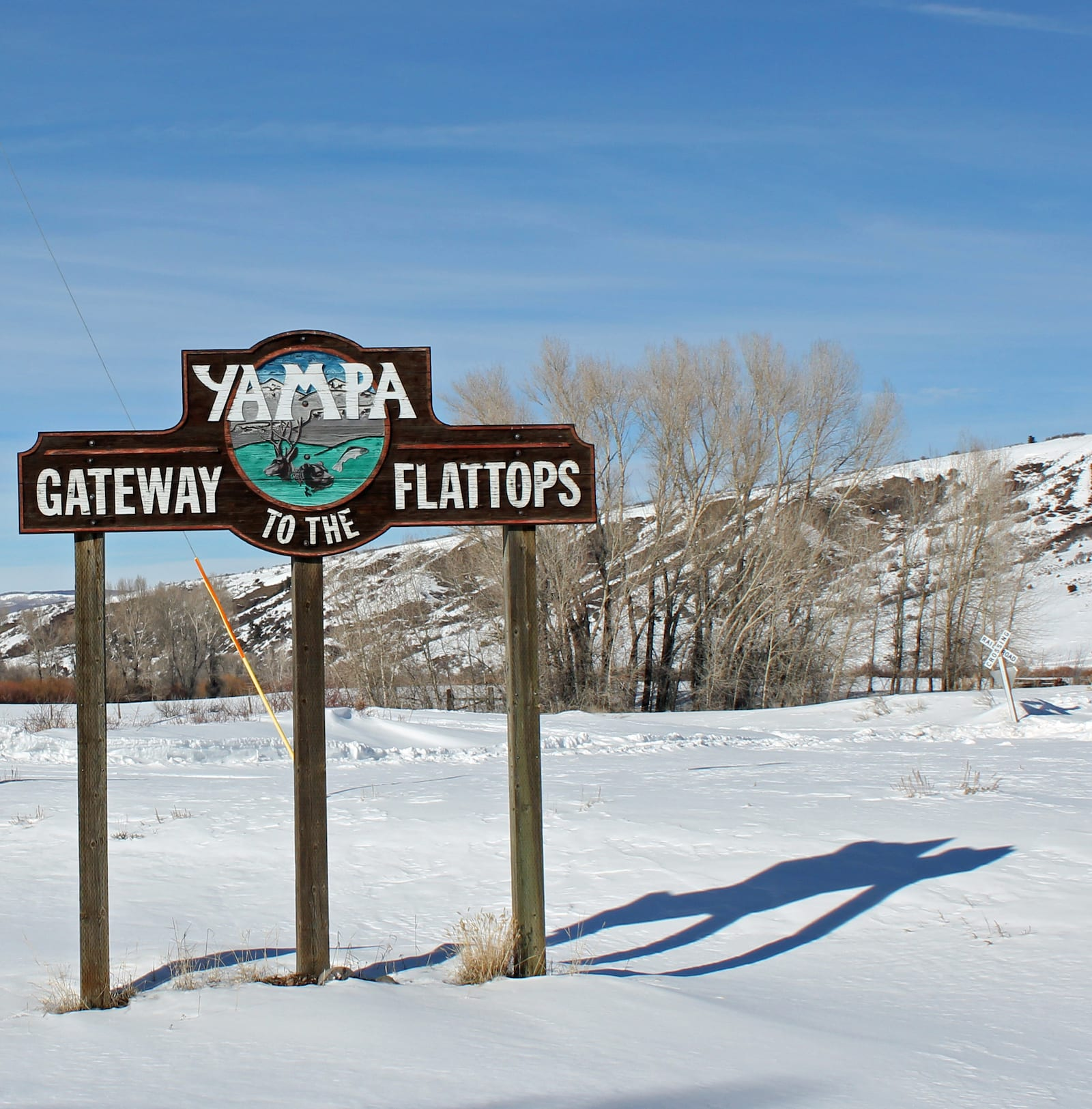 Colorado Town Motto Yampa Welcome Sign