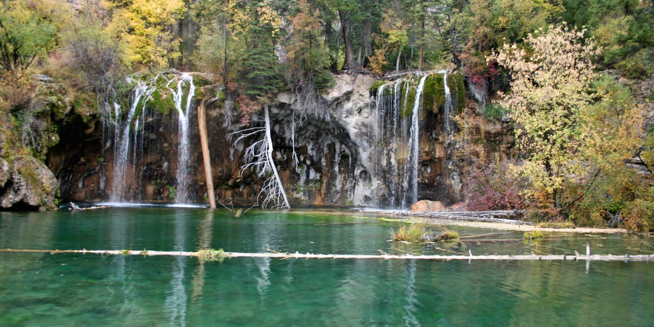 Hanging Lake Waterfalls Colorado