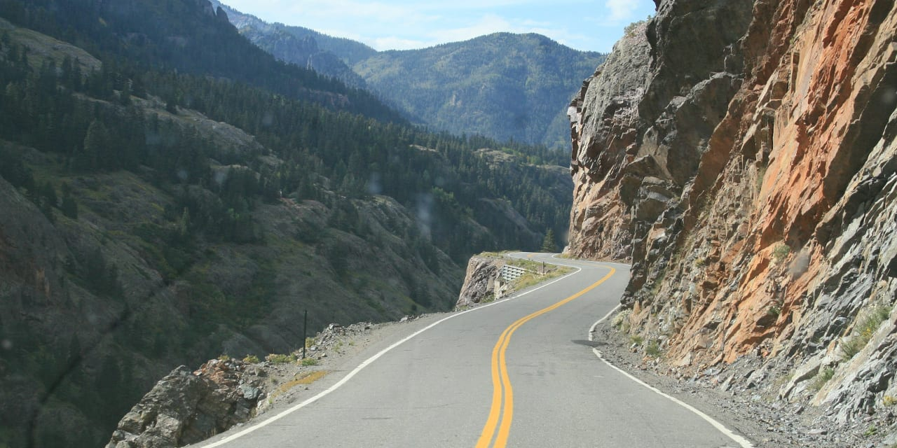 Millon Dollar Highway Ouray Colorado