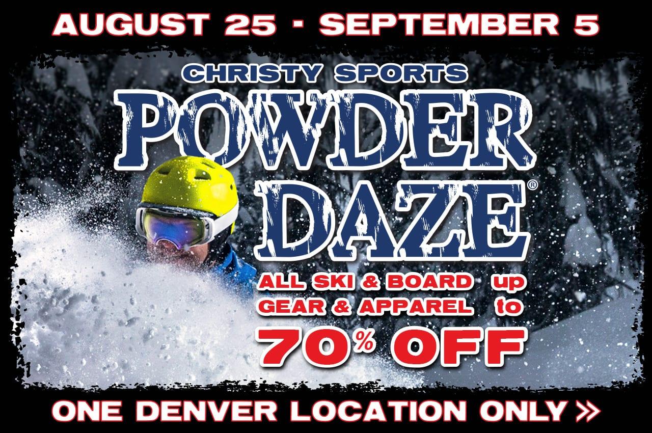 Christy Sports Powder Daze 2017 Sale