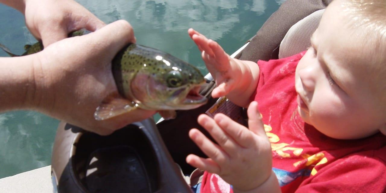 Rainbow Trout Fish Boy