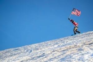 USA Flag Skier