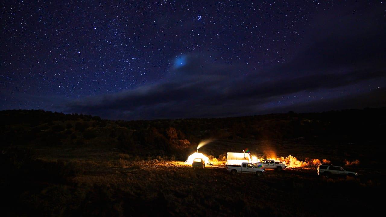 Colorado Hunting Camp Night Starry Sky