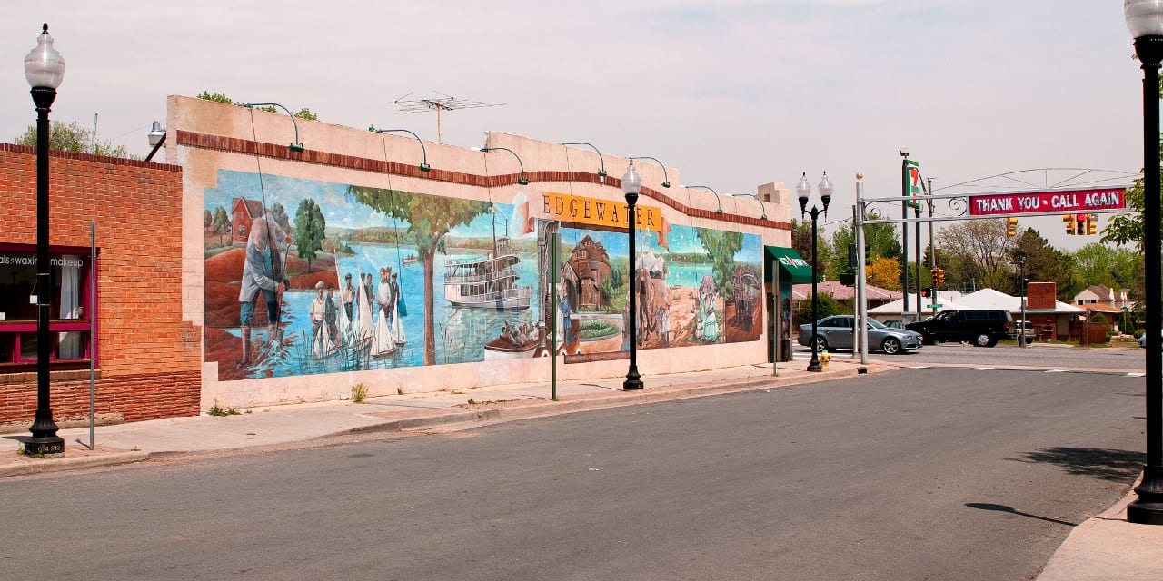Downtown Edgewater Colorado Mural