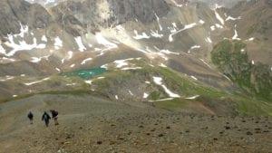 Handies Peak CO Hiking Descent