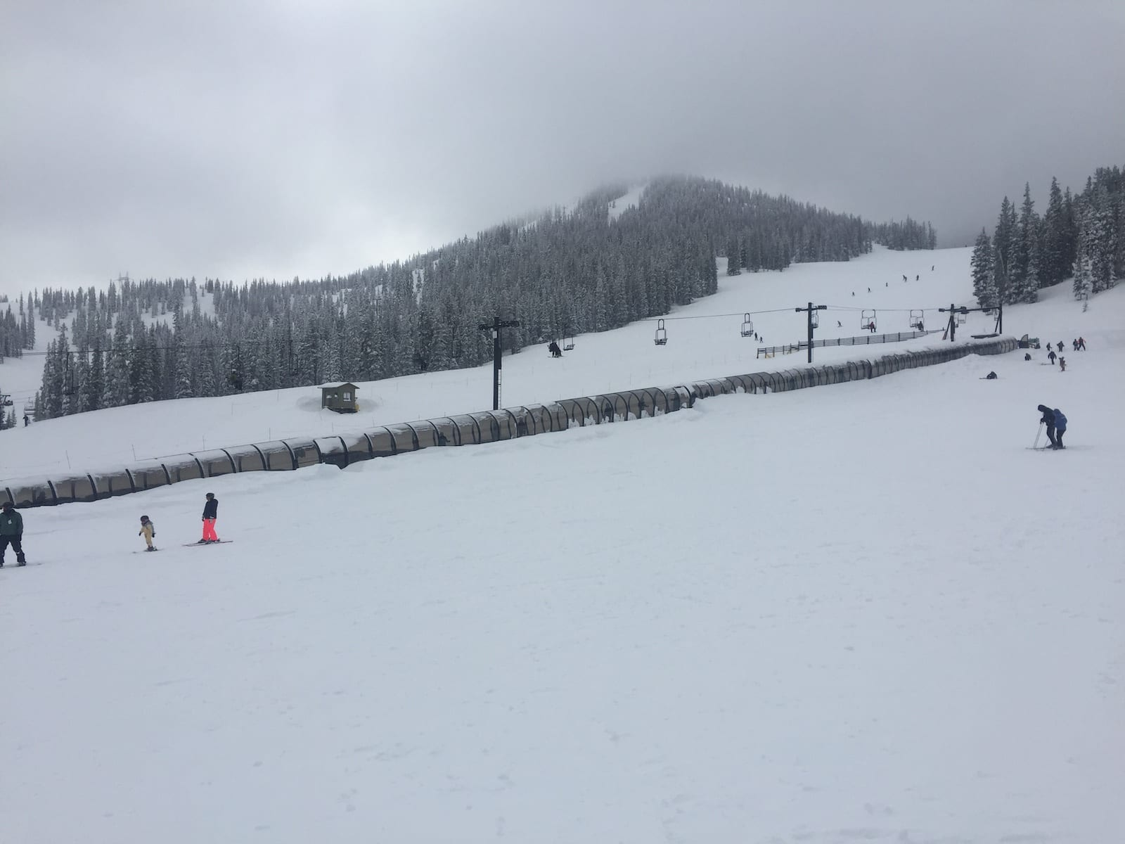 Best Family Ski Resorts Colorado Monarch Mountain Covered Magic Carpet Lift