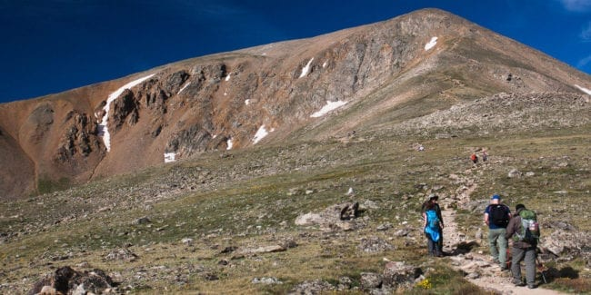 Colorado Hiking Mount Elbert