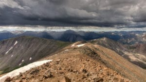 Mount Elbert Hike Storm