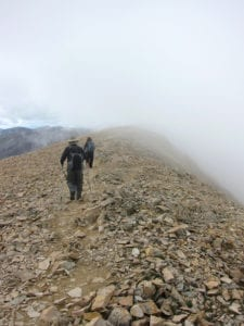 Mount Sherman CO Hiking Summit Storm