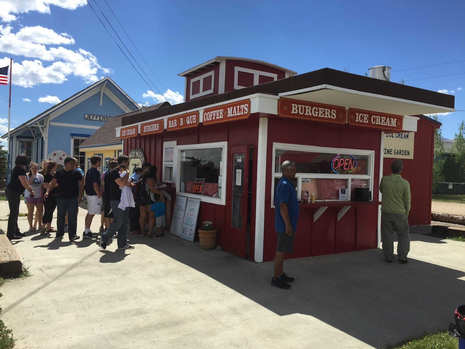 Hungry Moose Caboose Burger Restaurant Jefferson Colorado
