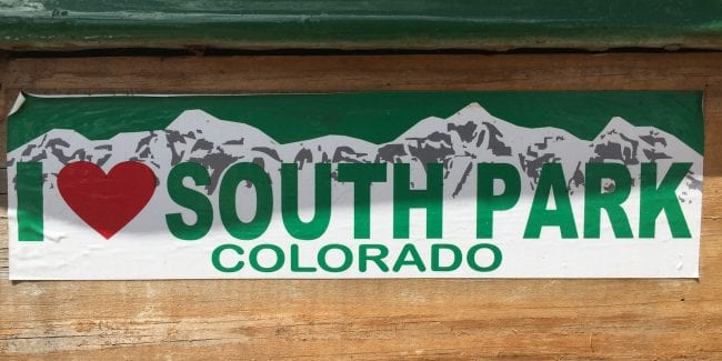 I Heart South Park Colorado Jefferson CO Store Banner
