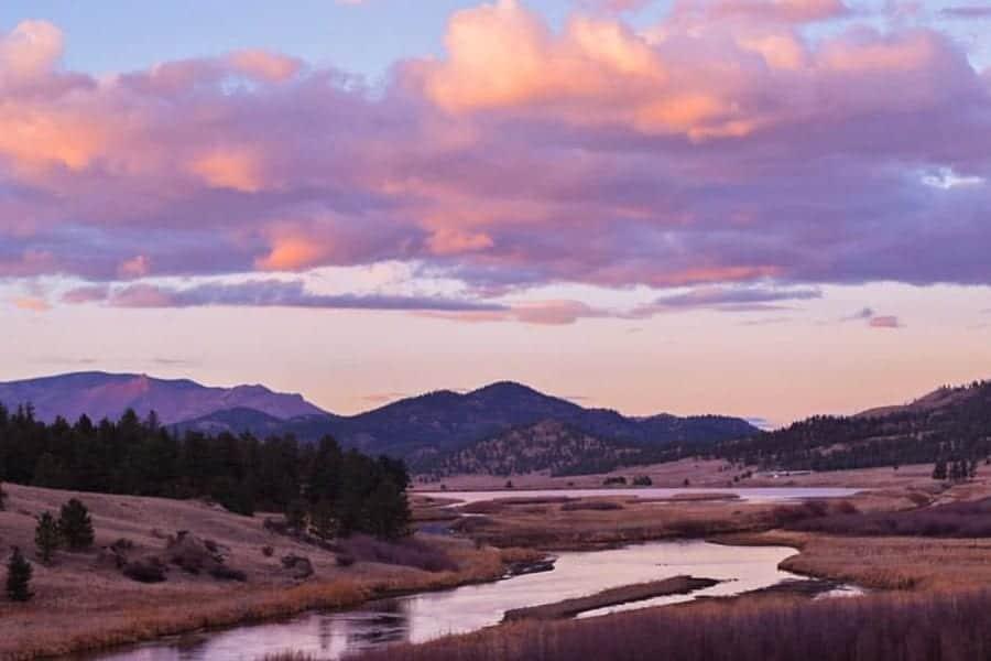 South Platte River Eleven Mile Reservoir Colorado