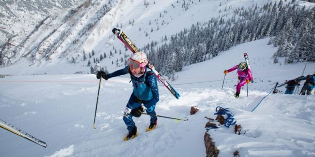 Aspen Power of Four Skiing Mountaineering Race