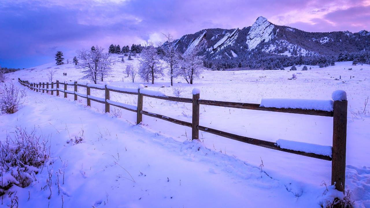 Chautauqua Park Winter Hiking Boulder Colorado