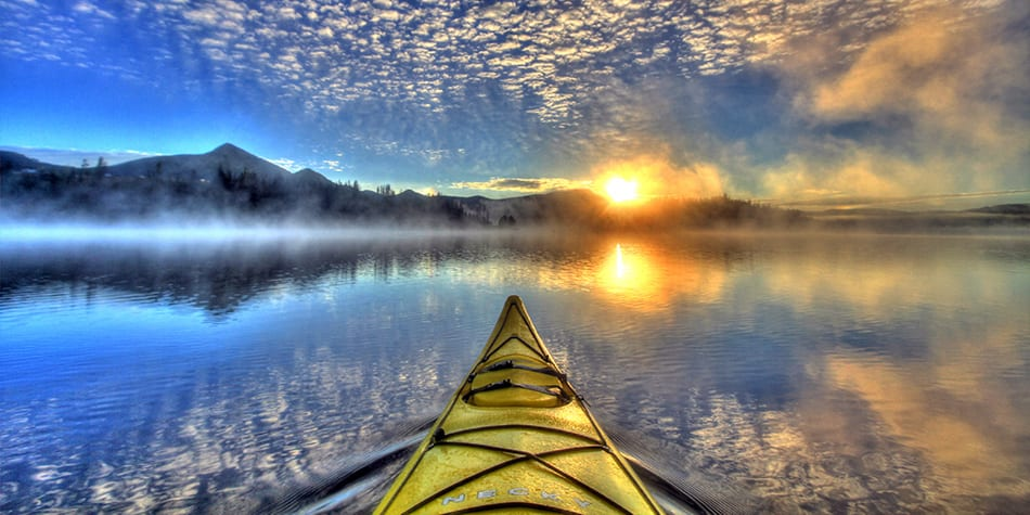 Colorado Kayaking Lake Sunrise