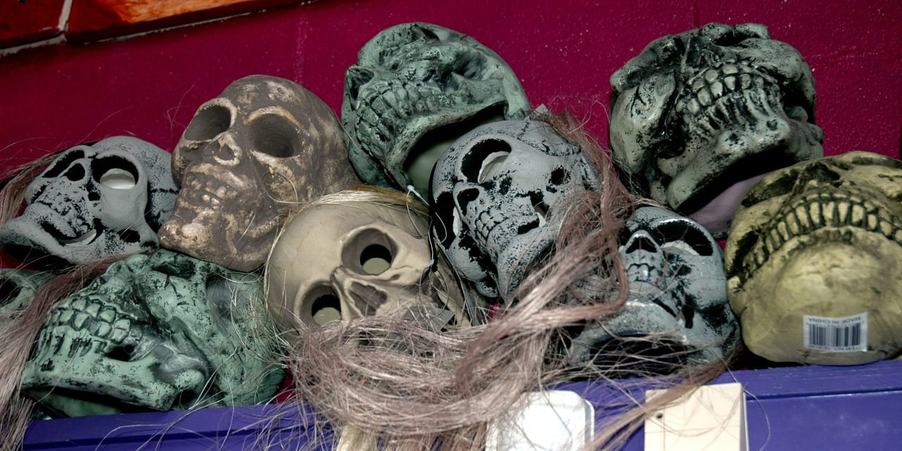 Wizard's Chest Halloween Store Skulls Denver Colorado