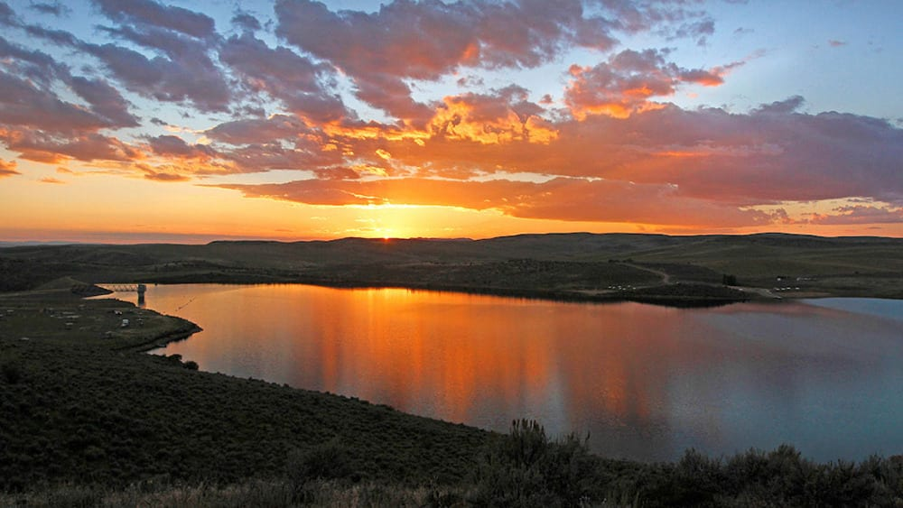 Elkhead Reservoir State Park Sunset Colorado
