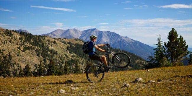 Monarch Crest Trail Biking Wheelie Salida