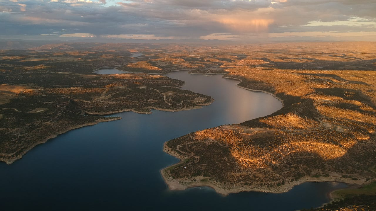 Navajo Reservoir New Mexico Aerial View