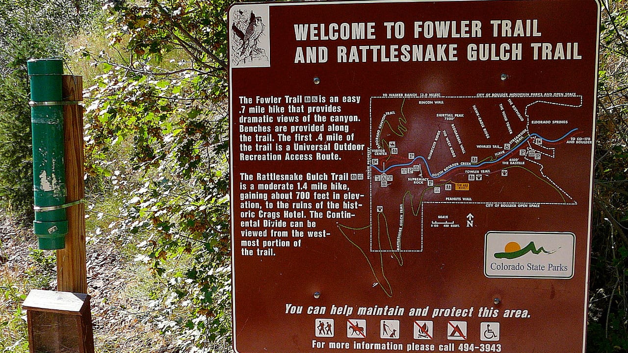 Rattlesnake Gulch Trail Boulder Colorado