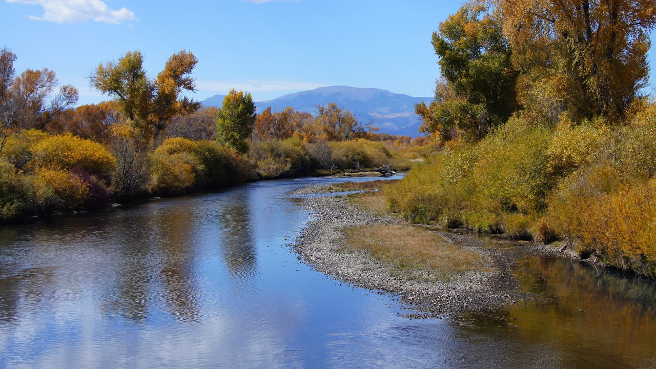 Rio Grande River Fishing Colorado Autumn