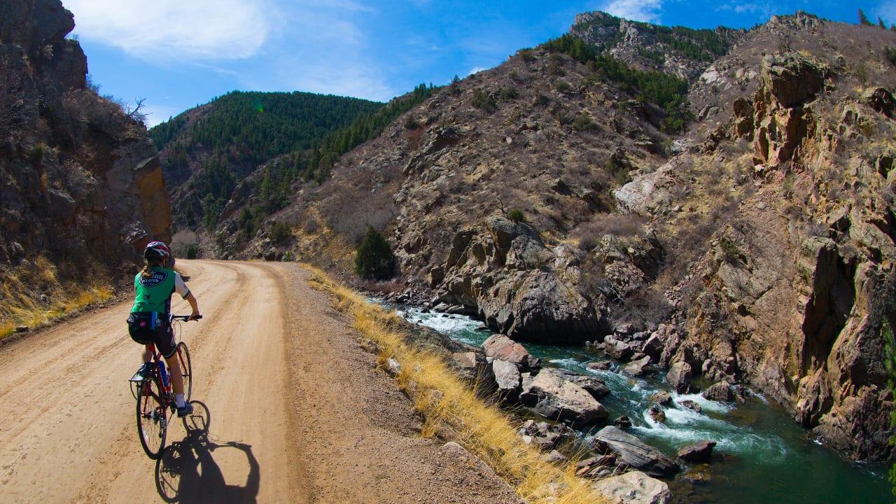 Biking Colorado Trail Waterton Canyon