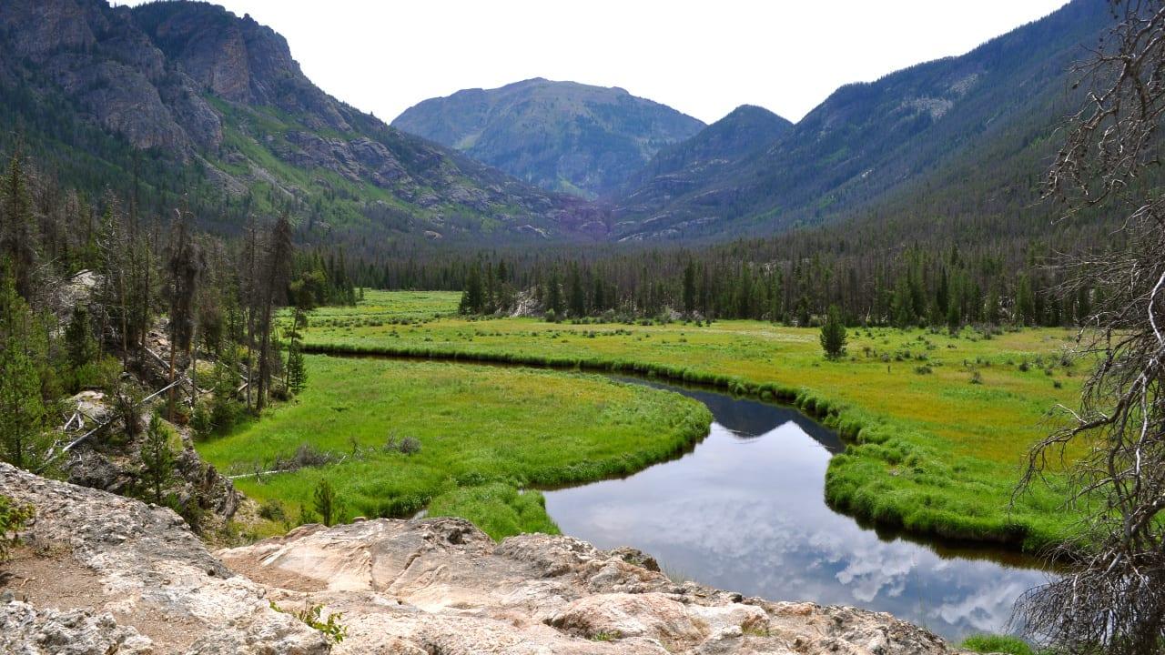 Adams Falls Hiking Trail Meadows Overlook Grand Lake Colorado