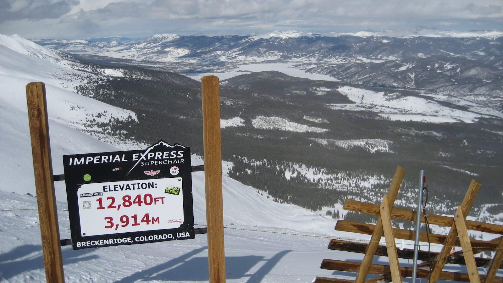 Breckenridge Ski Resort Atop the Imperial Express Superchair