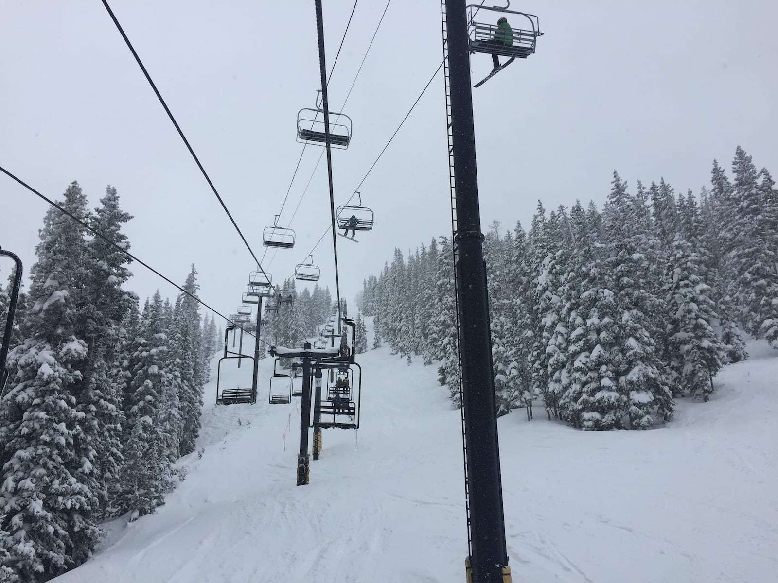 Monarch Mountain Ski Resort Chairlift Intersection