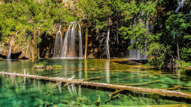 Visit Colorado Hanging Lake Waterfall Spring
