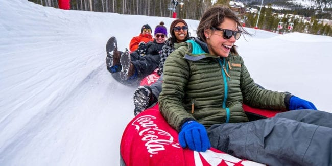 Coca-Cola Tubing Hill Winter Park Colorado