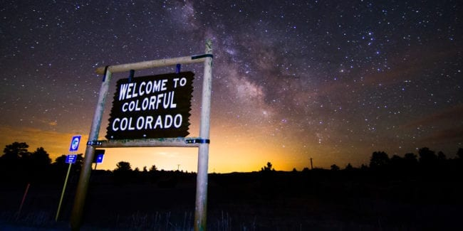 Colorful Colorado Welcome Night Stars