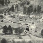 Dunafon Castle Evergreen Colorado Vintage Aerial View